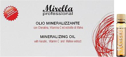 Минерализированное масло для волос - Mirella 10x10ml