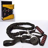 Тренировочная система тренажер-эспандер с ручками Profi MS 2566