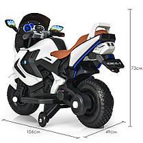 Детский мотоцикл Bambi белый 3681, фото 3