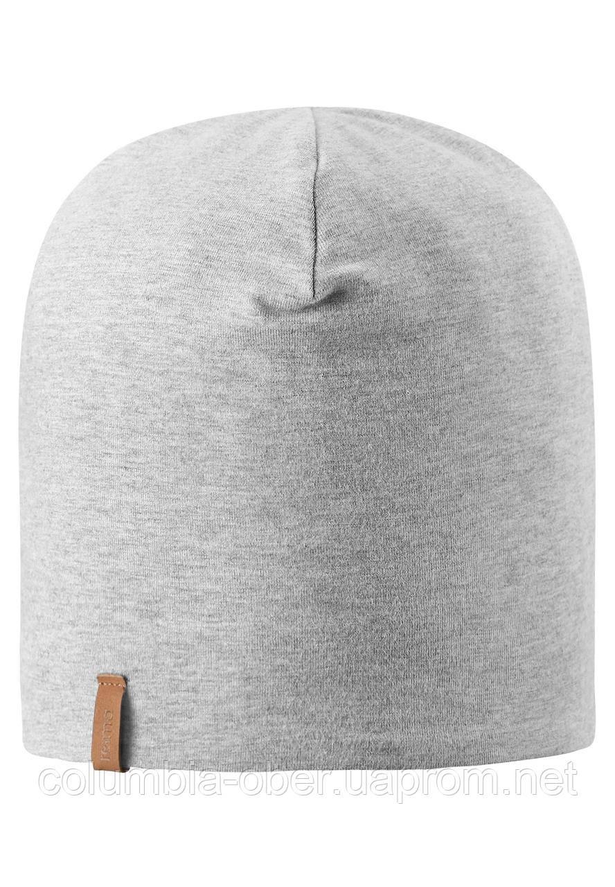 Демисезонная двусторонняя шапка для мальчика Reima 538056-9150. Размер 44/46.