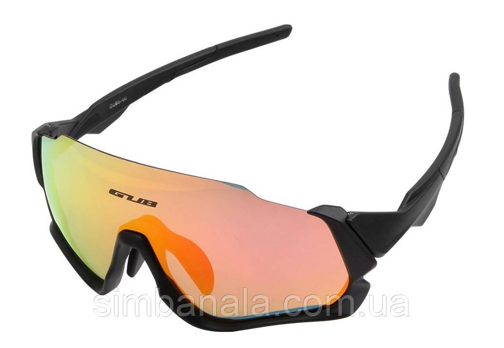 Очки велосипедные со сменными линзами GUB 5700 Anti Fog черный