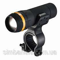 Фонарь пер. BC-FL1519 1w LED, питание батарейки 3хААА с унив. крепл. Pl