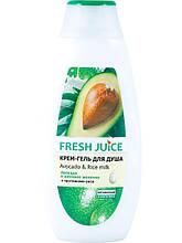 Крем-гель для душу Авокадо і рисове молочко 400 мл Fresh Juice арт.6098