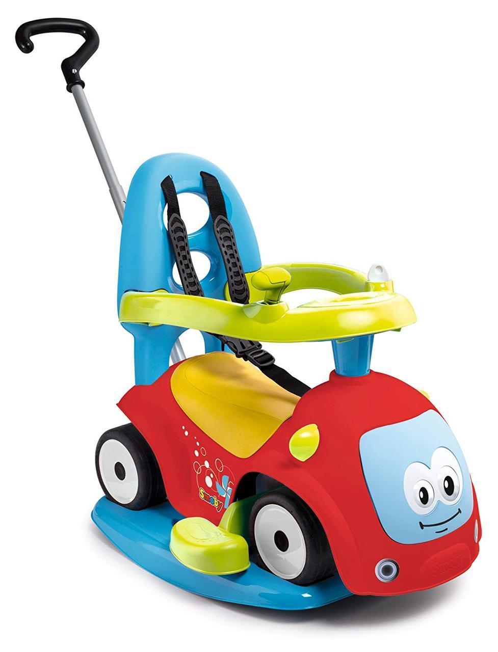 """Детская машина каталка толокар """"Маестро"""" с качелей 4 в 1 Maestro Smoby 720302 для детей"""