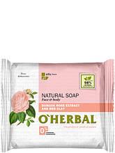 Натуральне мило з екстрактом дамаської троянди і червоної глини 100 г O Herbal арт.3549