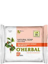 Натуральне мило з екстрактом лісової суниці і червоною глиною 100 г O Herbal арт.3570