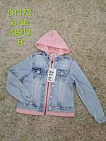 Джинсовые куртки для девочек оптом, S&D, 6-16 р