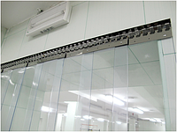 Энергосберегающая ленточная ПВХ завеса Германия Н2000х1075мм, лента 200х1.7 мм, комплект с карнизом, фото 1