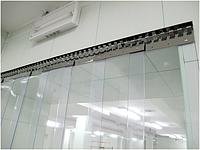 Энергосберегающая ленточная ПВХ завеса Германия Н2000х1250мм, лента 200х1.7 мм, комплект с карнизом, фото 1