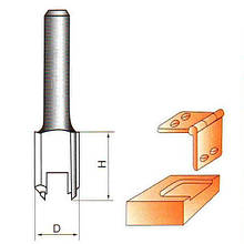 Фреза по дереву пазовапряма для вибірки під петлі. Серия 1002 D25 h25