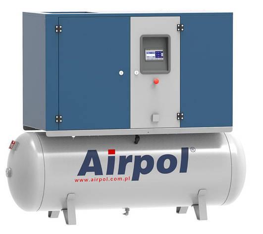 Компрессор винтовой Airpol KPR7 (0,8 МПа) на базе ресивера 500 л., фото 2