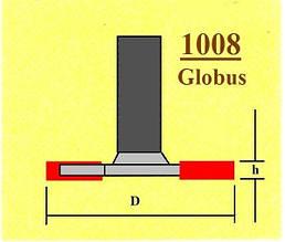 Фреза Дискова кромочна для горизонтальних пазів. Серія 1008.  D33 h10 d8 Z2