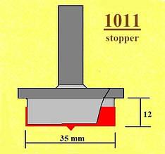 Фреза з обмежувачем глибини для дверних петель (навісів), фреза Форстнера. Серія 1011.  D35 h18 d8
