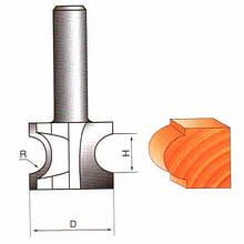 Фреза Глобус кромочна фігурна. Серія 1014.   D24 h6 R3 d8