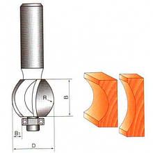 Фрези ГЛОБУС кромочні галтельні шароподібні з нижнім підшипником. Серія 1015.   D27 h12 R6 d8