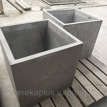 Вазон бетонний 400*400*400