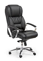 Кресло компьютерное FOSTER черный - КОЖА (Halmar)