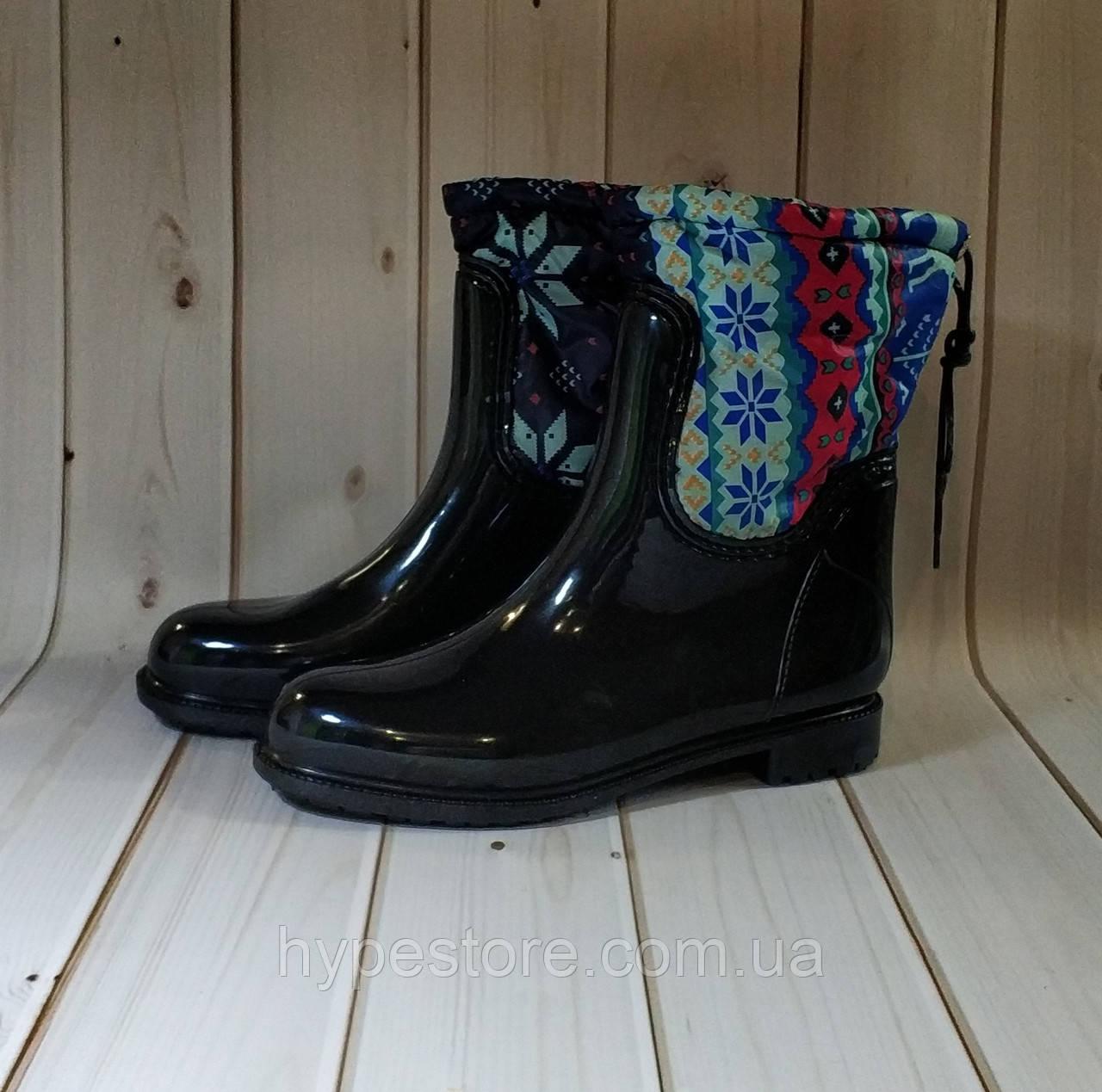 Утепленные женские резиновые сапоги,полусапожки,ботинки,резиновая обувь для девочек