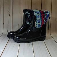 Утепленные женские резиновые сапоги,полусапожки,ботинки,резиновая обувь для девочек, фото 1