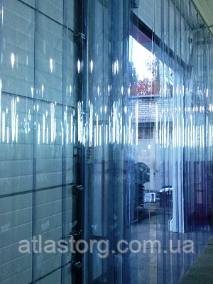 Енергозберігаюча ПВХ завіса Extraflex Н2000х1600мм, стрічка 200х1.7 мм, комплект термошторы з карнизом