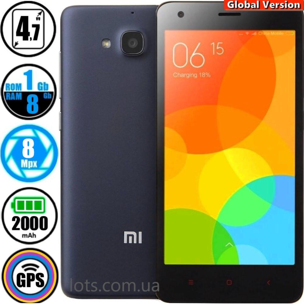Смартфон Xiaomi Redmi 1s Grey 1/8Gb (Global Version)