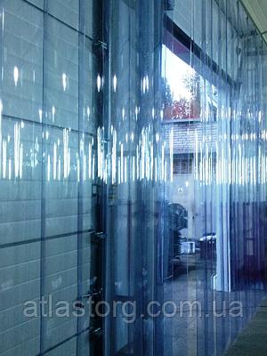 Енергозберігаюча ПВХ завіса Extraflex Н2000х1775мм, стрічка 200х1.7 мм, комплект термошторы з карнизом