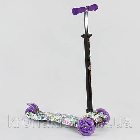 """Самокат-кикборд А 25535 /779-1333 """"Best Scooter""""  4 колеса PU. СВЕТ, d=12см, фото 2"""