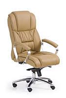 Кресло компьютерное FOSTER светло-коричневый КОЖА (Halmar)