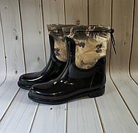 Женские резиновые утепленные сапоги,полусапоги,ботинки,для девочек, фото 1