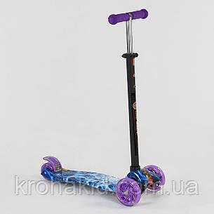 """Самокат-кикборд А 25536 /779-1334 """"Best Scooter""""  4 колеса PU. СВЕТ, d=12см, фото 2"""