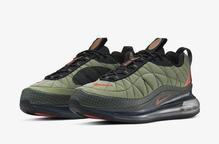 Мужские кроссовки в стиле  Air Max 720 818 цвет хаки
