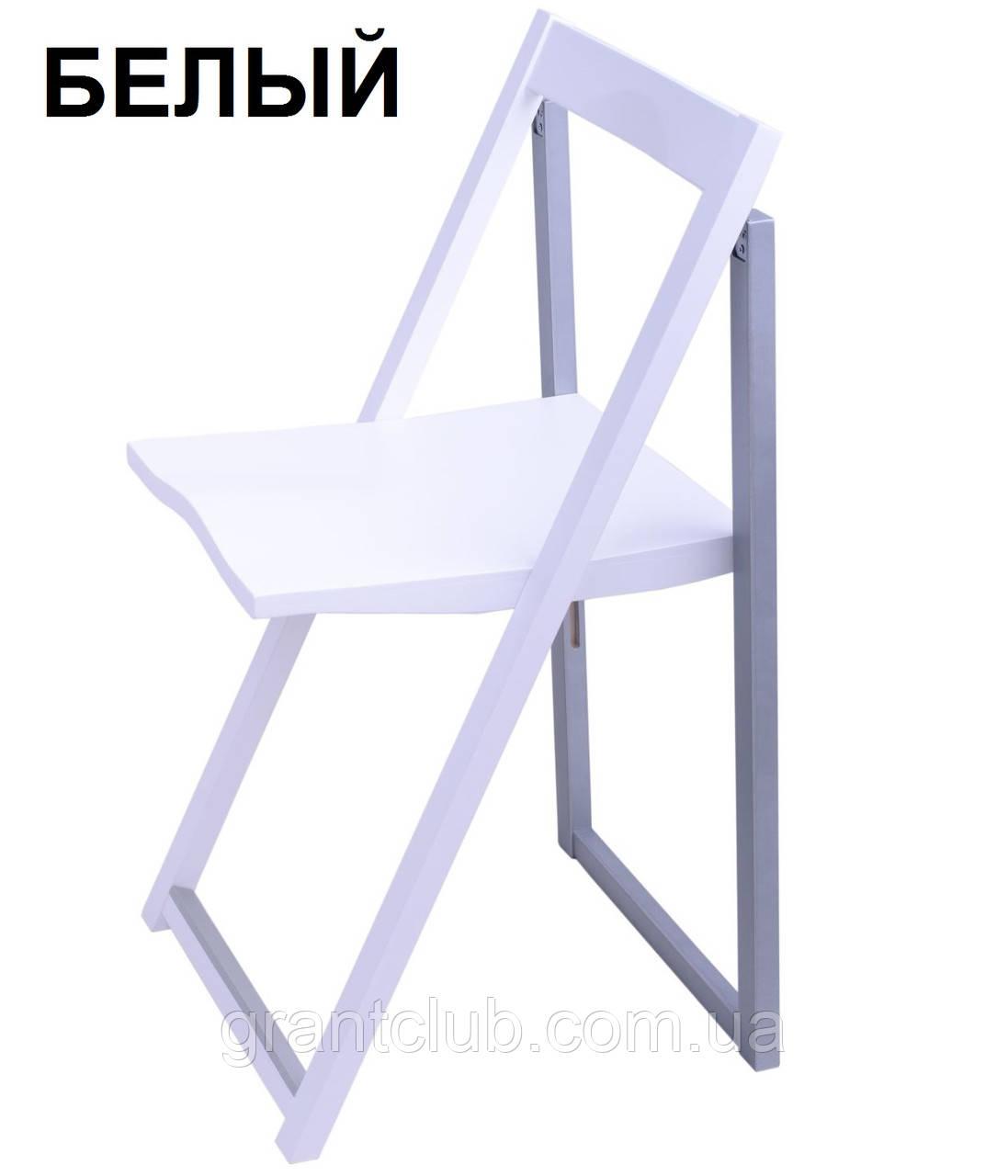 Стул деревянный складной белый WHITE Slim SILLA