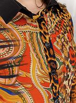 Женская шифоновая блуза с леопардовым принтом батал Minova Размеры: 50-52, 54-56, 58-60, 62-64, 66-68, фото 3