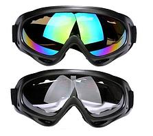 Очки лыжные спортивные зимние, мото солнцезащитные черные. ВТ03
