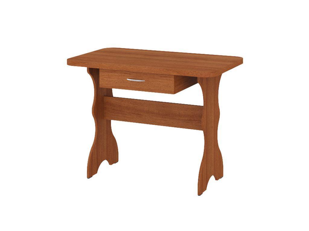 Кухонный Стол Простой (с ящиком) Орех Лесной
