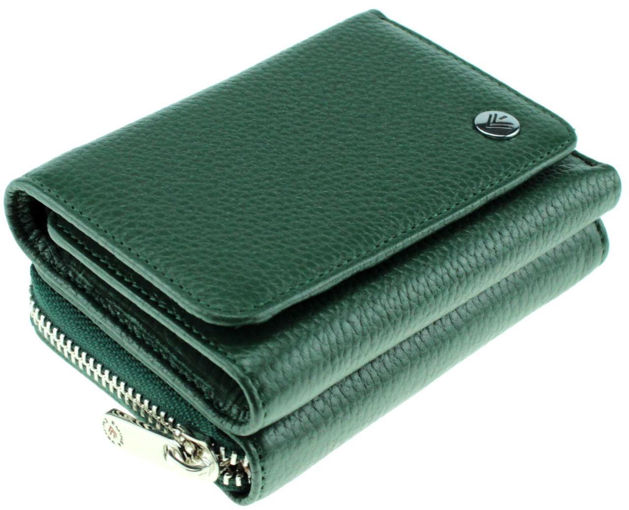 Женский кошелек кожаный зеленый Eminsa 2032-18-16