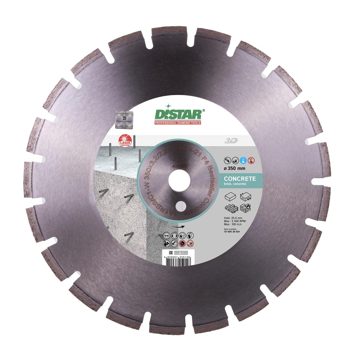 Диск алмазный Distar 1A1RSS/C1-W 600x4,5/3,5x9x25,4-36 F4 Bestseller Concrete