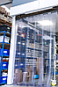 Энергосберегающая ребристая ПВХ завеса Н2000х900мм, лента 200х1.7 мм, Германия, комплект с карнизом
