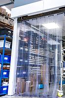 Энергосберегающая ребристая ПВХ завеса Н2000х900мм, лента 200х1.7 мм, Германия, комплект с карнизом, фото 1