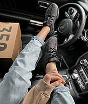 Женские кроссовки в стиле Adidas Yeezy Boost 350 V2 Black, фото 3