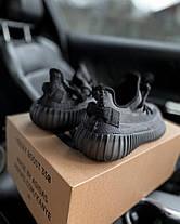 Женские кроссовки в стиле Adidas Yeezy Boost 350 V2 Black, фото 2