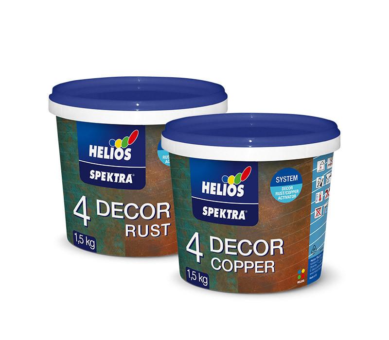 """Декоративное покрытие """"старая медь"""" HELIOS SPEKTRA DECOR Copper + Aktivator, 1,5кг + 0,5кг"""