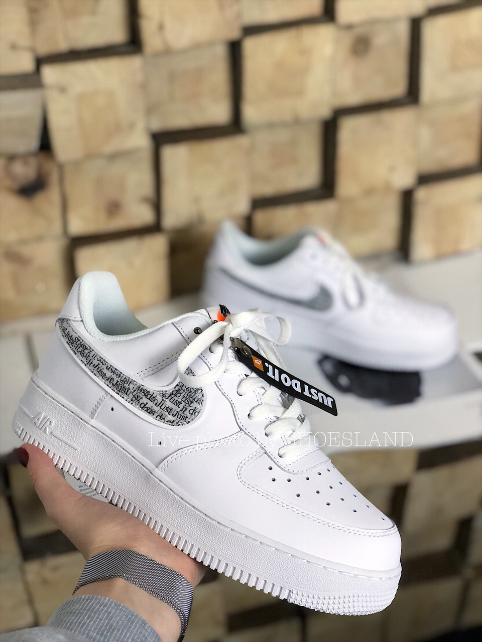 Кроссовки Nike Air Force 1 Just Do It full White 2