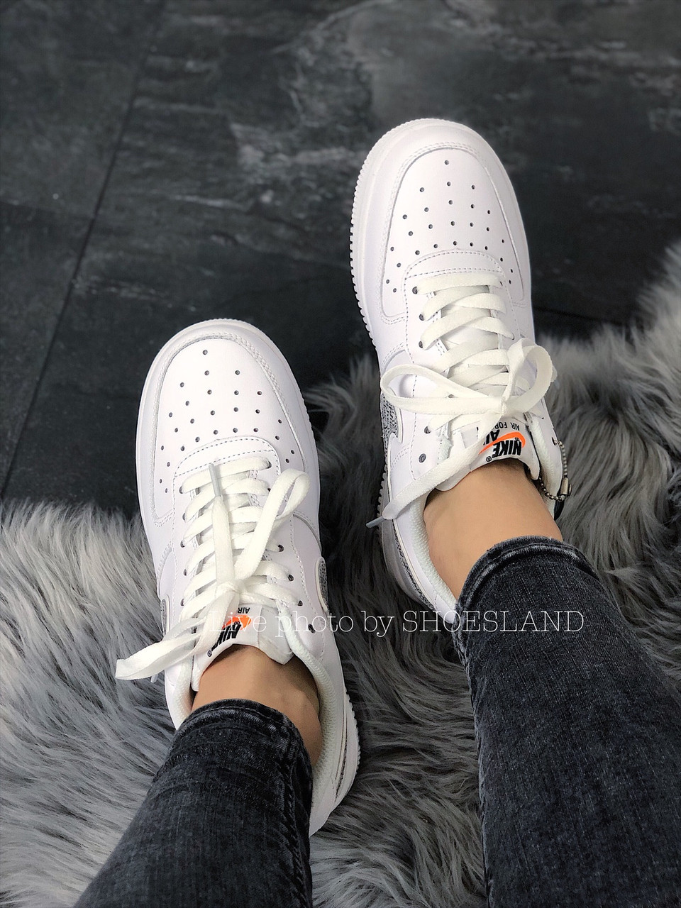Кроссовки Nike Air Force 1 Just Do It full White 6