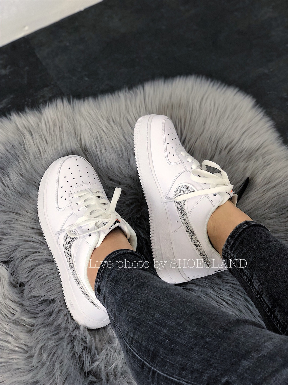 Кроссовки Nike Air Force 1 Just Do It full White 5
