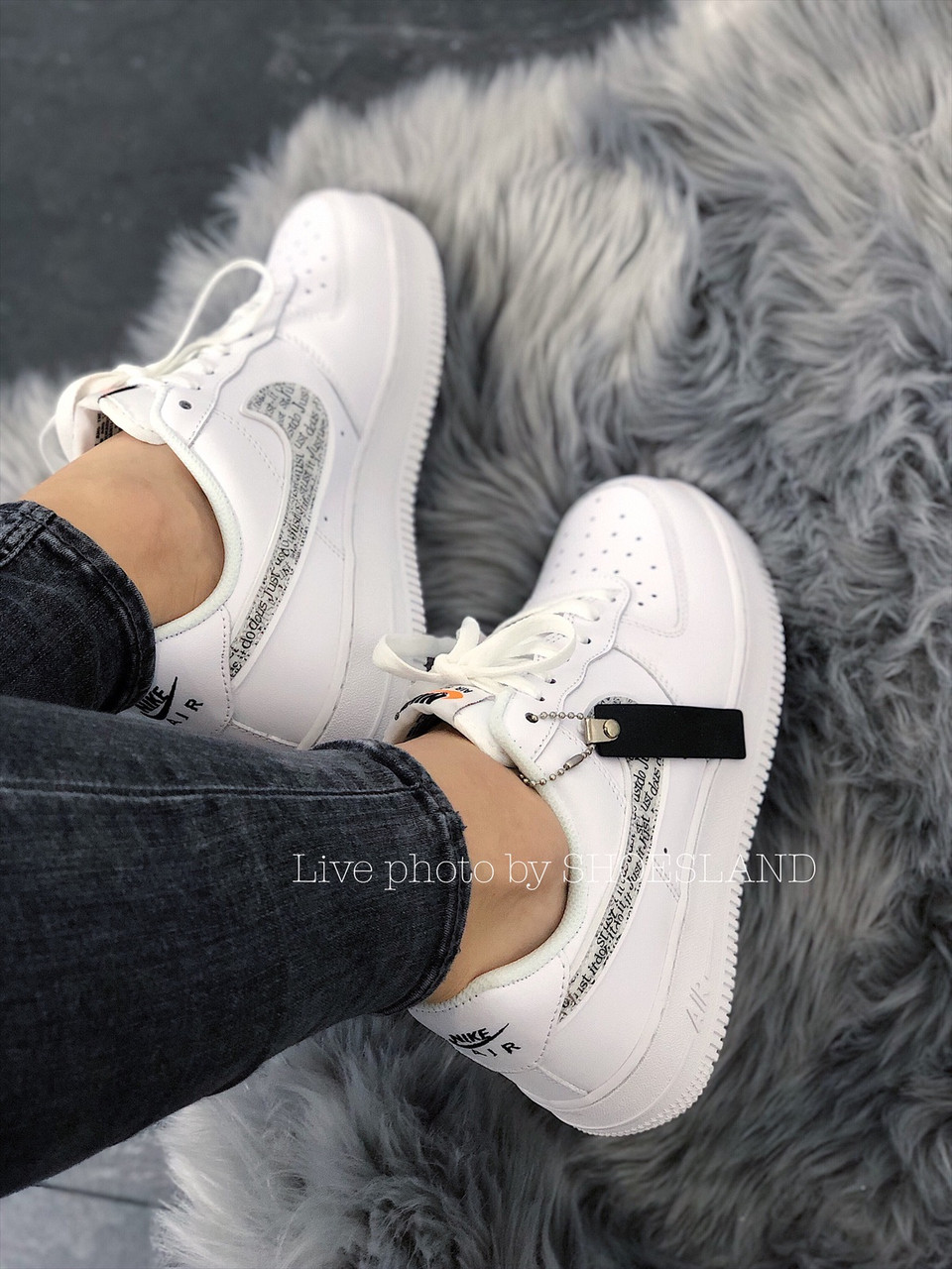 Кроссовки Nike Air Force 1 Just Do It full White 3
