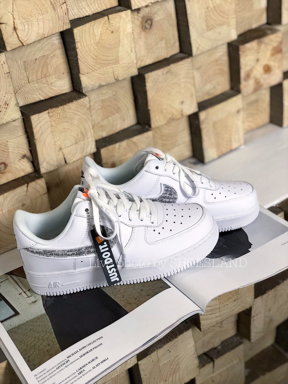 Кроссовки Nike Air Force 1 Just Do It full White 7