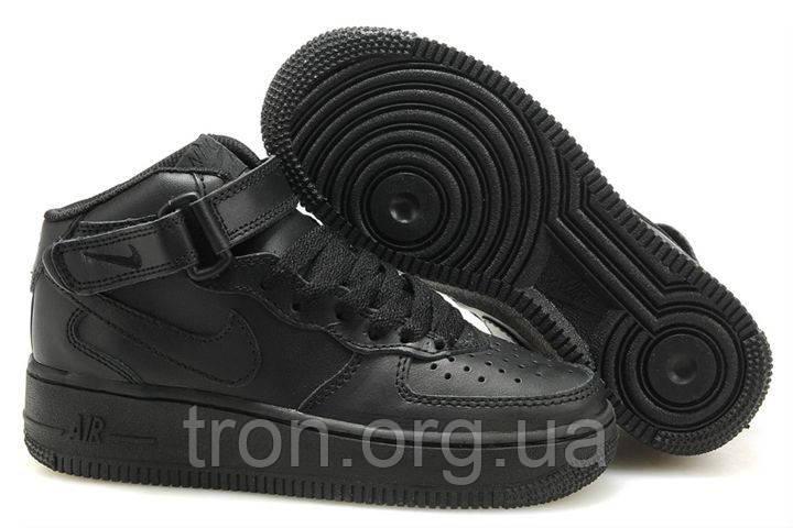 2ef85457 Кроссовки Мужские NIKE AIR FORCE Mid 1 All Black, цена 1 045 грн ...