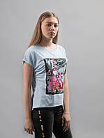 Женские футболки с ярким принтом разные цвета, фото 1
