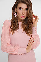 Мягкая женская кофточка с прозрачными рукавами,  размер 42-50, фото 2